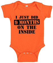 I Just Did 9 Months Hard Time On The Inside of Mommy funny trick or treat of halloween school party  baby onesie