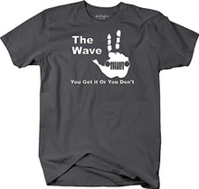 The Jeep Wave T-Shirt for men and women with whit logo 3 fingers