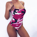 Pink Camo Womens Swimsuit 1 Piece