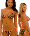 Women's Army Camo Bikini Orange String