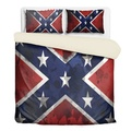 Dixie Flag Bedding for King or Queen Size Beds with shams
