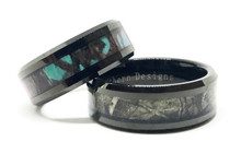 Camo couples wedding ring set his and hers
