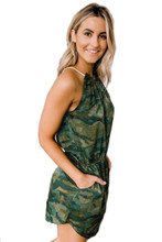 Women's Army Camo Jumpsuit For the Spring and Summer