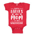 Red baby boy valentines onesie for mommy's valentine