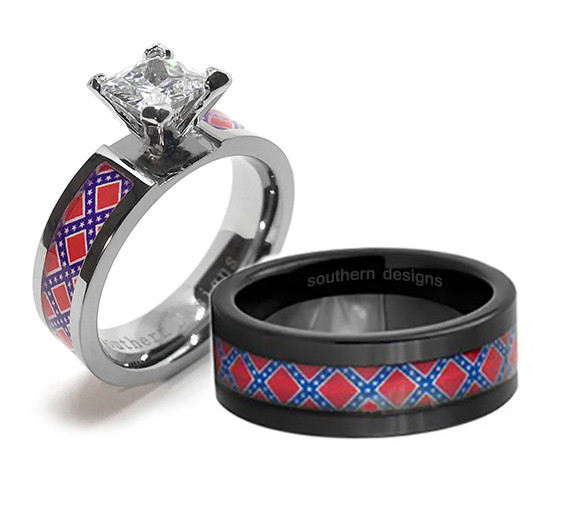 Confederate Wedding Ring Set With Women S And Men S