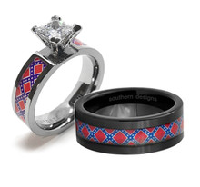 Dixie Wedding Ring Set With His and Hers