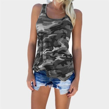 Regular Military Army Woodlands Ladies Camouflage Tank Tops