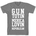 Gun Carrying Republican T Shirt that Loves Merica