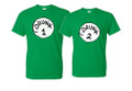 Drunk 1 and drunk 2 t shirts Couples T Shirts Green in all different sizes unisex