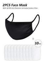 Washable Resuable Black face mask with filter that ships fat from the USA