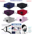 Non Medical Face Mask Red Grey Black Pink Purple Navy Blue Filter PM 25 filter carbon masks for men and women adults teens