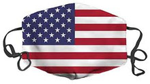 American Flag Face Mask Washable Reusable Cloth Premium mouth and nose coverage - made in the USA
