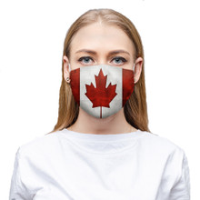 Canadian Flag Face Mask Canada Country Protection with washable and reusable double layer cloth