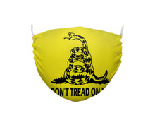 Don't Tread Gadsden Flag Face Covering made out of double layer cloth