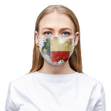 Texas Flag Face Covering Mask Cloth that is washable and reusable