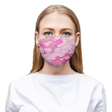 Pink Camo Face Mask Army Woodlands