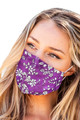 Purple Flower Print Cloth Face Covering Mask Ships Within 48 hours