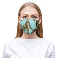 Teal Camo Face Mask Cloth