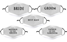 Protective Wedding Face Coverings and Masks for bride an groom parties and family members