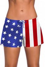 Ladies American Flag Swim Shorts Board