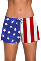 Ladies American Flag Swim Shorts Board