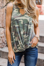 Army Camo Ladies Tank Top With Woodlands Print Is Out Hottest Summer Apparel Seller
