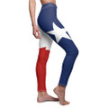 Small through 2x ladies sized Texas Flag Leggings with the Lone star red white and blue