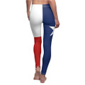 Ladies Rear or Back View of these Lone Star tights with the star For Working Out Exercies or Casual
