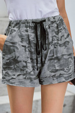 Women's Camouflage Shorts Fashion With Draw String