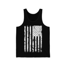 Black and whit American Flag vintage Grunge tank top unisex for men and women