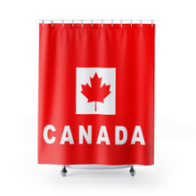 Shower Curtain with The Canada Flag printed