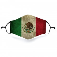 Mexican Face Covering From Cloth With Grunge Look