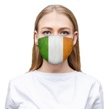 Irish Flag Face Covering that is protection against flu virus and covers mouth and nose