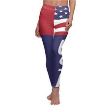 USA American Flag Leggings For Women Red White Blue