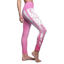 Pink American Flag Leggings Women