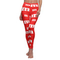 Red M&M Legging Pant Stretchy great for birthday parties halloween an more
