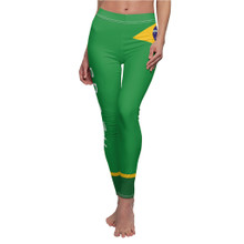 Brazil Flag Leggings with Word on Side