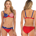 Newest American Flag Ladies Bathing Suit Bikini