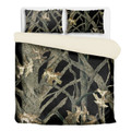 Black Camouflage Bedding Hunting Pattern With Comforter and Pillow Cases