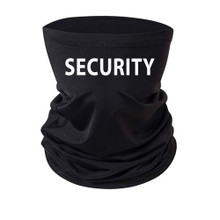 Security Guard Neck Gaiter Black With Block Print for women and men