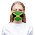Country Of Jamaica Flag Face Mask with Ear Saver Straps