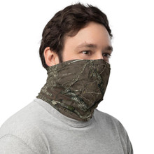 Hunting Pattern Neck Gaiter with tree and forest pattern