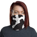 Cow Print Neck Gaiters for Cyclist Athletes and Every Day Wear