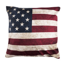 American Flag Throw Pillow 15 inch width