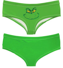 Grinch Panty Boy Shorts for Ladies