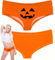 Pumpkin Face Boy Short Panty for Women
