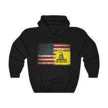 American Flag and Dont Tread On Me Flag Hoodie