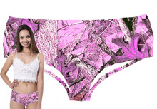 Sexy Pink Camouflage Panty For Women