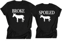Broke Ass and Spoiled Couples Shirt Set
