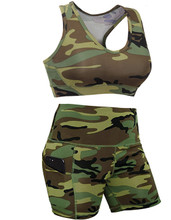 Women's Camouflage Work Out Outfit with Bra
